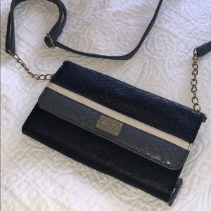 Black and grey leather Jessica Simpson bag